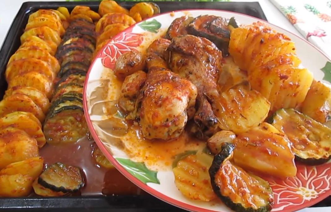 Κοτόπουλο μπριάμ στον φούρνο
