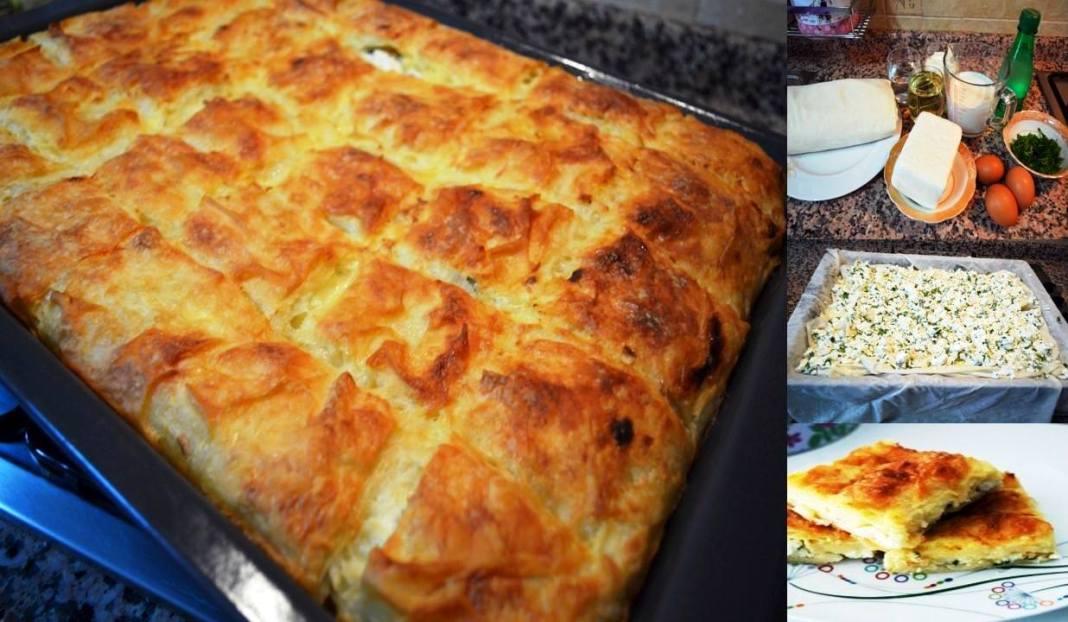 Τυρόπιτα με σόδα / μεταλλικό νερό με τυρί φέτα, μαϊντανό