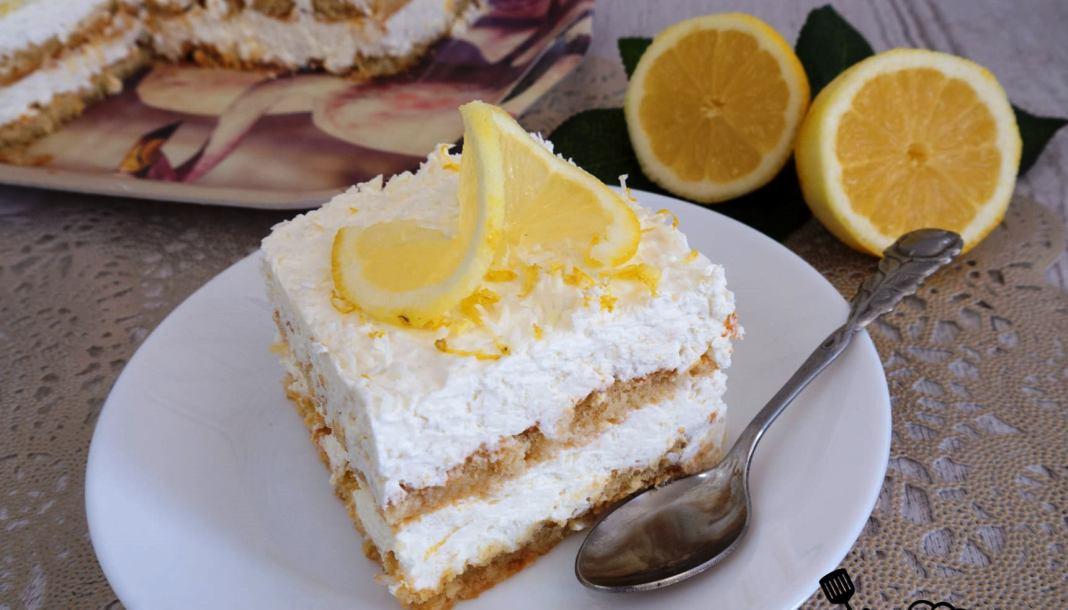 Γλυκό Ψυγείου με λεμόνι & καρύδα