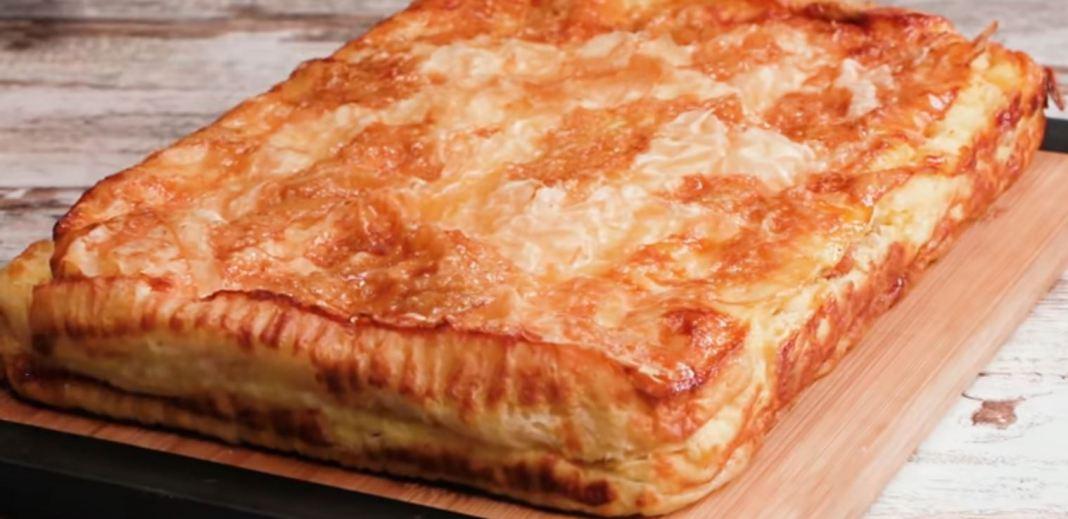 Πίτα με γιαούρτι και σταφίδες