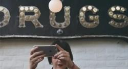 woman selfie drug store