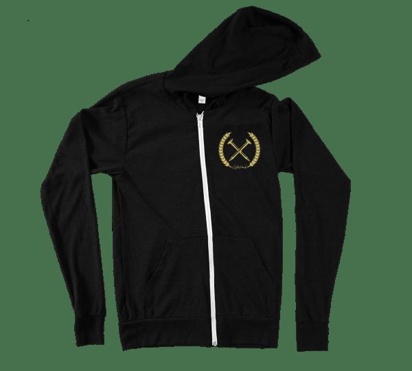 Nailed to the x hoodie - straight edge hoodie, hooded sweatshirt