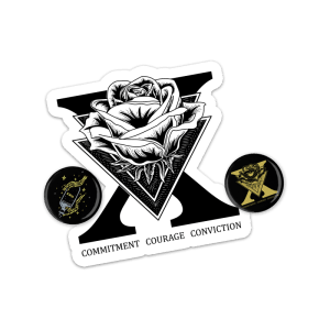 xsisterhoodx straight edge buttons and stickers