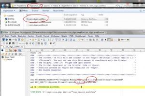 Screenshot Konfiguration vtiger Workflow