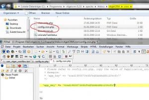 Konfiguration vTiger Workflow App_key