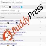 Defektes Buddypress Forum