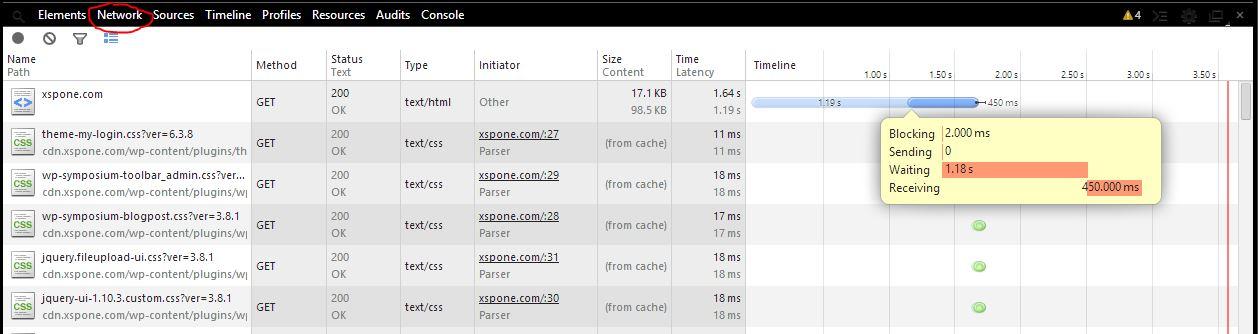 Chrome Website Ladezeit anzeigen