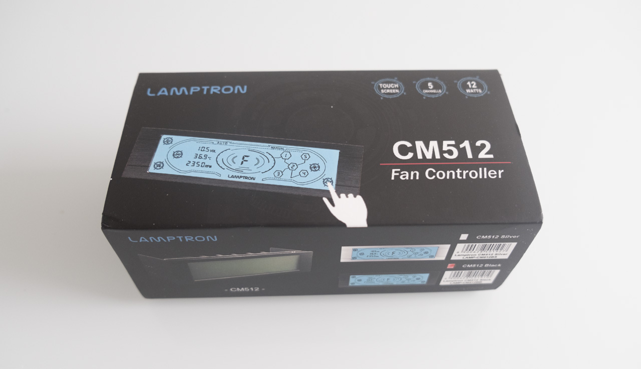 Lamptron Cm512 Fan Controller Review Xsreviews All Metal Faceplate Intelligent Temperature Control