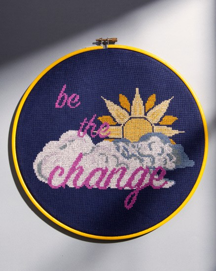 Bobo Stitch's Be The Change design for Issue 1
