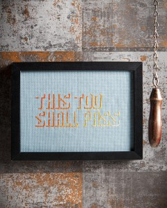 Mr X Stitch's This Too Shall Pass design for Issue 1