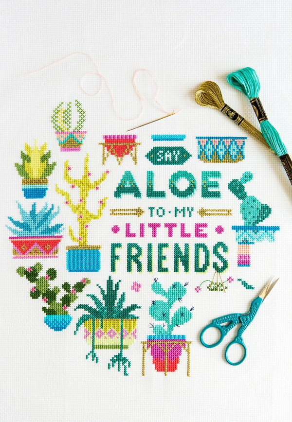 Emma Congdon's Say Aloe design from our Green issue!