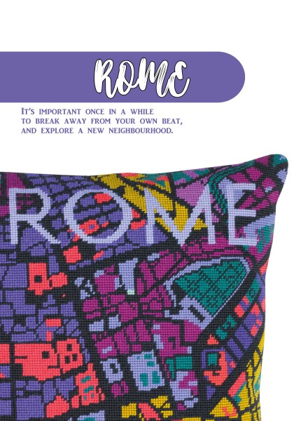 Hannah Bass'Rome Needlepoint Design for Issue 2