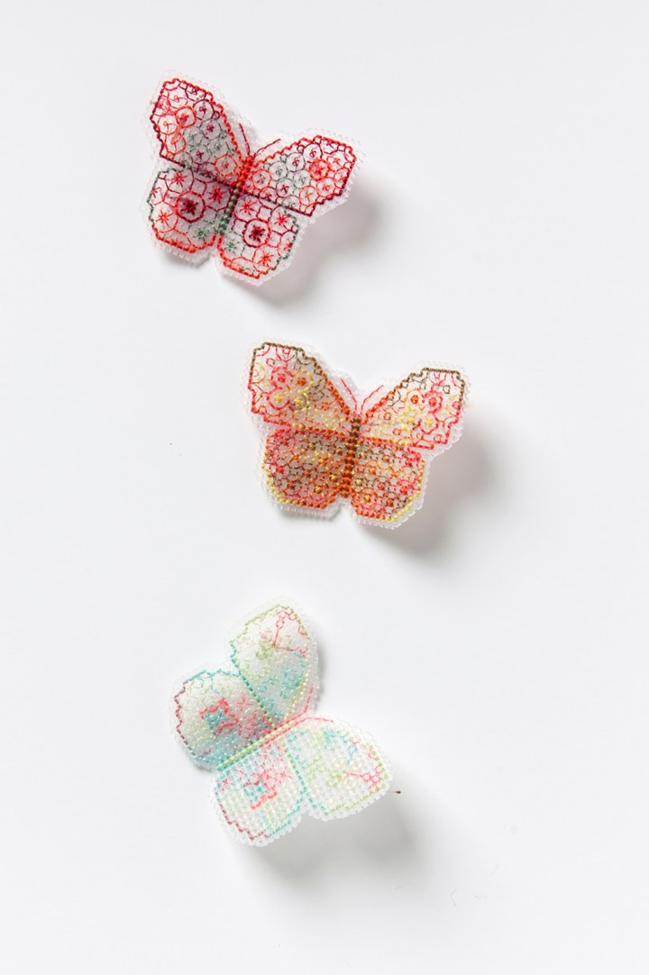 The Hawthorn Tree's Blackwork Butterflies from Issue 2