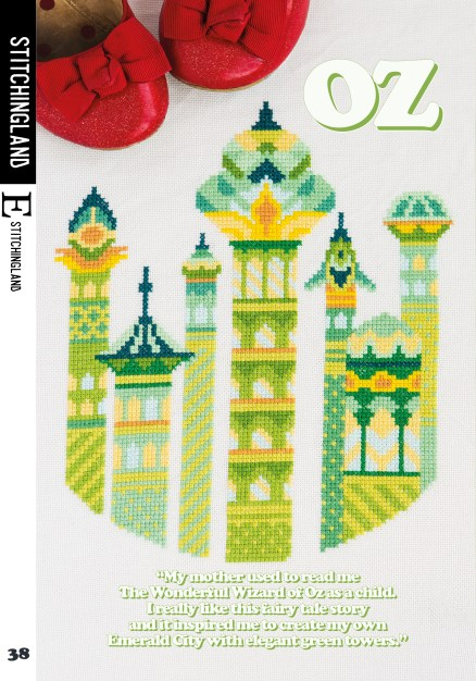 StitchingLand's Oz cross stitch design for Issue 4 of XStitch Magazine