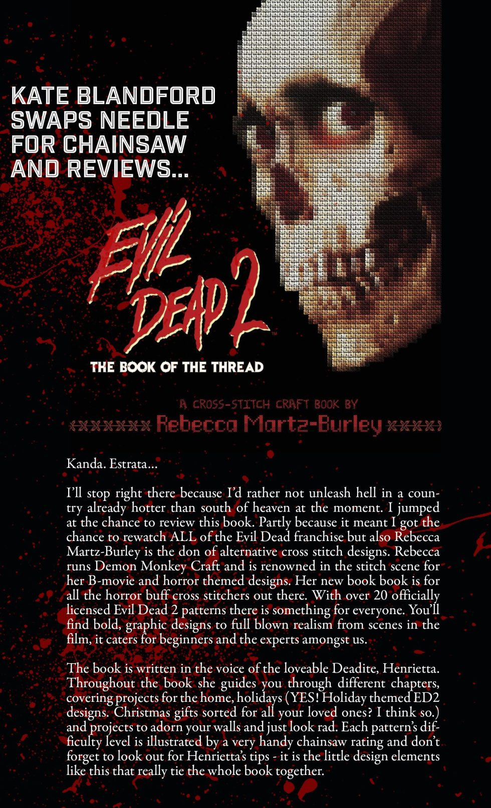 Kate Blandford reviews Evil Dead 2: Book of the Thread by Rebecca Martz-Burley