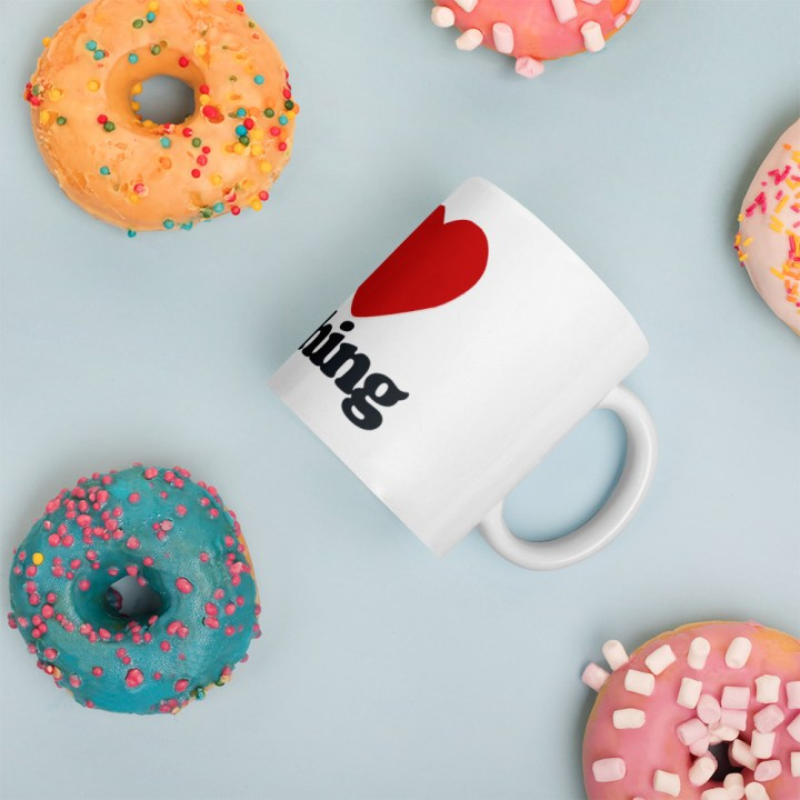 I Heart Stitching Mug
