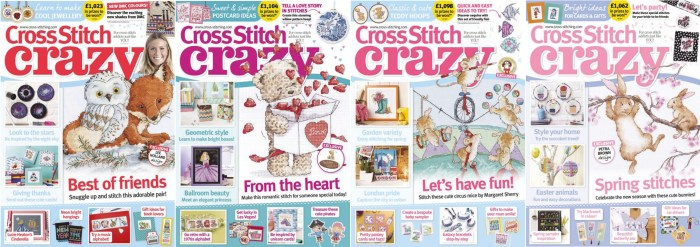 Cross Stitch Crazy covers for January to April 2018