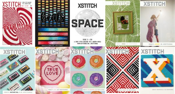 The first 10 Covers of XStitch - The Best Cross Stitch Magazine