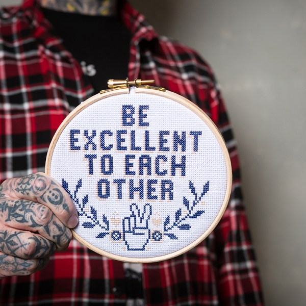 Kate Blandford's Be Excellent To Each Other Design from Issue 11
