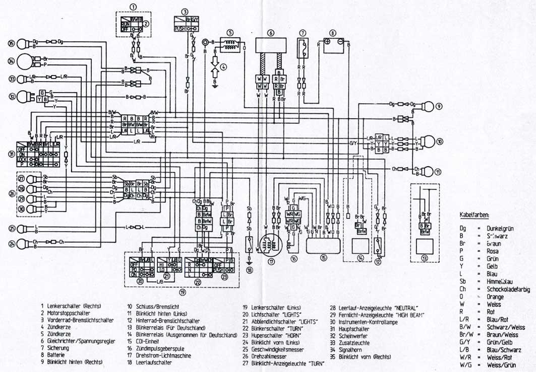 Schema Impianto Elettrico Yamaha Tt 600
