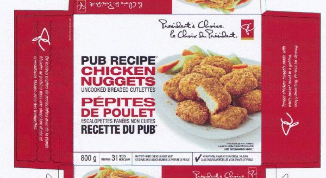 Amid Salmonella Scare, Loblaws Recalls President's Choice Brand Chicken Nuggets