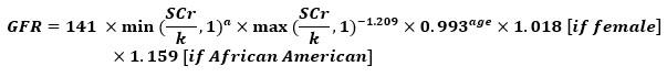 CKD-EPI Equation