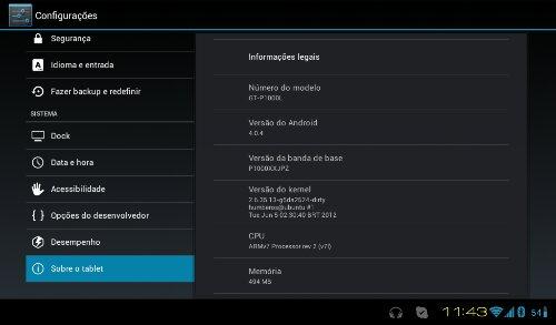 Cyanogen 9 no Samsung Galaxy Tab P1000L (1/3)