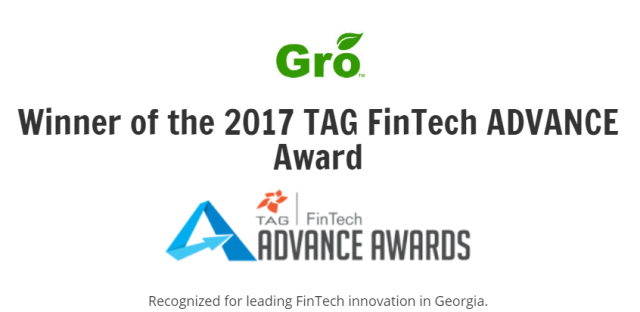 Gro TAG FinTech Advance Award