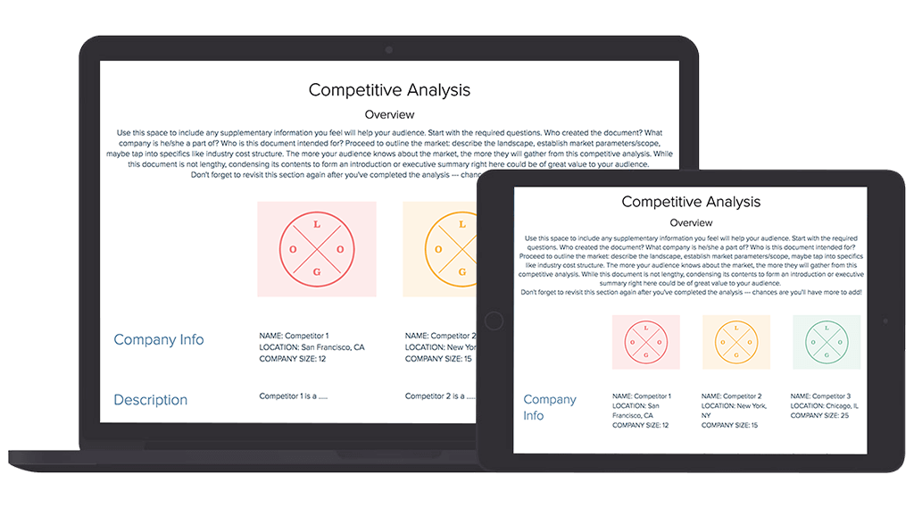 Analyze 2 or more competitors' websites for seo, content, cro and backlink ideas. How To Create A Competitive Analysis Guide Samples Xtensio