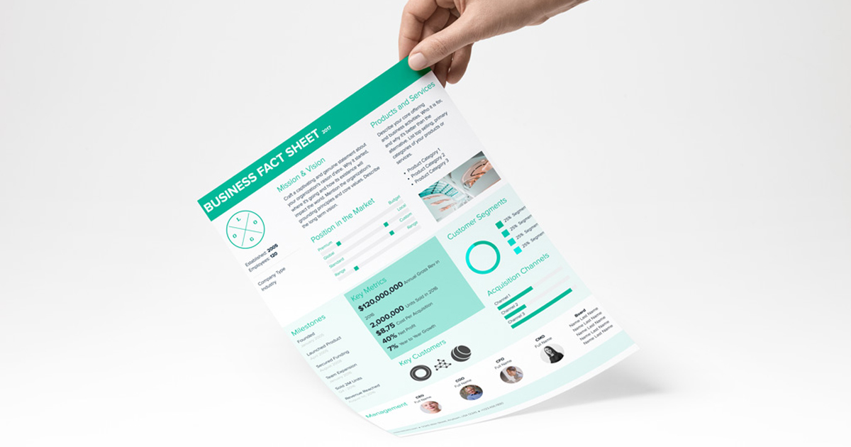 Fact Sheet Template And Examples Xtensio