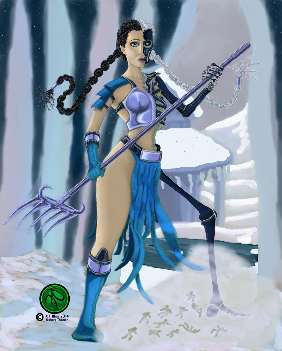 Hel's Winter Harvest 2014 Digital 3479x4337 #Norse #Mythology #FantasyArt #Digital # Illustration #Digital #DigitalArt. Prints and one time giclee available.