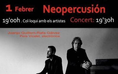 Neopercusión actuarà dins del Festival So XXI a Canals