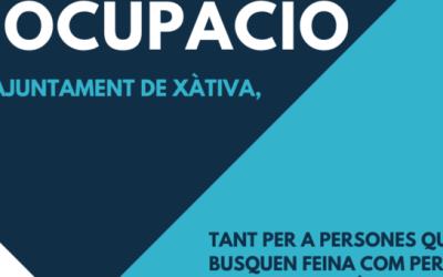El Portal d'Ocupació de l'Ajuntament de Xàtiva publica dues noves ofertes laborals
