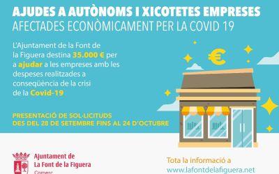 La Font de la Figuera ajudarà amb 35.000 euros a autònoms i empreses afectades per la Covid-19