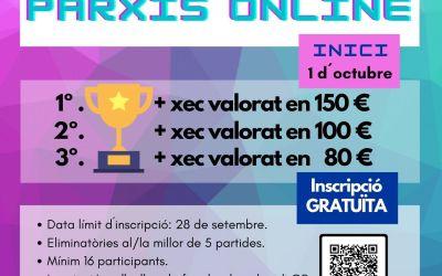 La Regidoria de Joventut de l'Alcúdia de Crespins llança un torneig de parxís en línia
