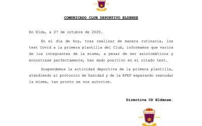 El CD Eldense suspén l'activitat esportiva del primer equip