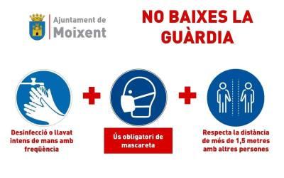 L'Ajuntament de Moixent mostra la seua preocupació per la situació de la COVID-19 al municipi