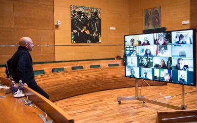 Toni Gaspar es reunix amb els alcaldes i alcaldesses de la Costera i la Canal