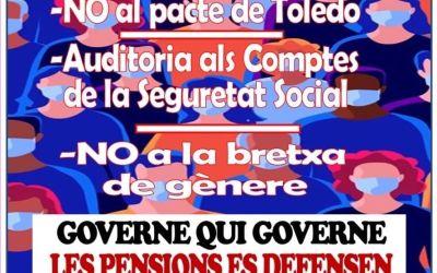 La Plataforma en Defensa de les Pensions Públiques de Xàtiva i la Costera convoca una concentració per al pròxim 2 de març