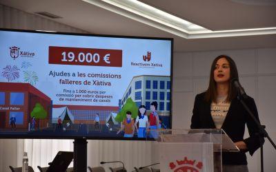 L'Ajuntament de Xàtiva aprova una subvenció de 19.000 euros per a les comissions falleres de la ciutat