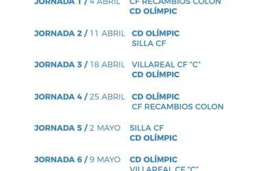 El CD Olímpic ja coneix el seu calendari de partits per a la segona fase