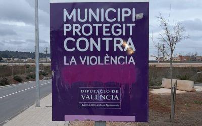 L'Alcúdia de Crespins denuncia les pintades als senyals Contra la Violència de Gènere