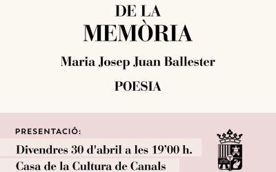 L'ajuntament de Canals publica el poemari de l'autora local M. Josep Juan