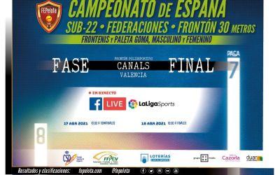 Canals acull el Campionat d'Espanya de Federacions Sub-22 de frontenis i paleta goma