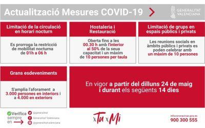 La Generalitat redueix la limitació de la mobilitat entre la 1:00 h i les 6:00 h i l'hostaleria tancarà a les 00:30 hores