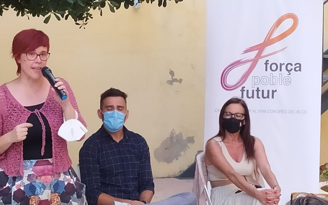 Àgueda Micó i el seu equip presenten a Xàtiva la seua candidatura per al Congrés Nacional del BLOC