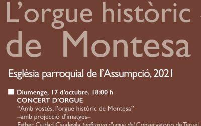 Montesa presenta VIII Cicle internacional de concerts de l'orgue històric