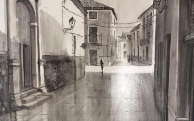 Francisco Pérez guanya el 1r Premi del XII Concurs de pintura a l'aire lliure Vila de Canals