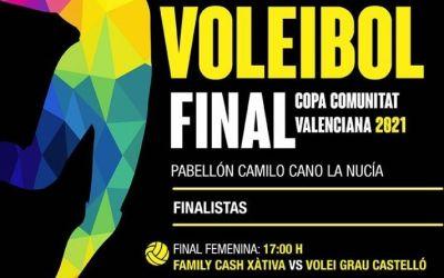 El Family Cash Xàtiva Voleibol femení s'enfronta al Vòlei Grau Castelló en la final de la Copa CV