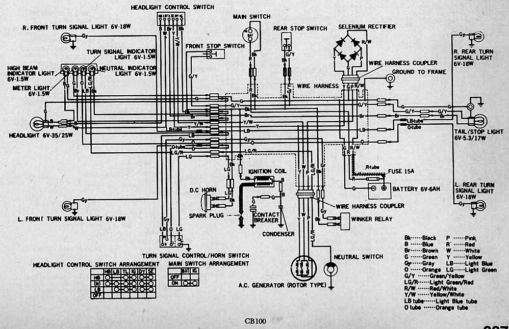 Honda Cb750k1 Electrical Wiring Diagram